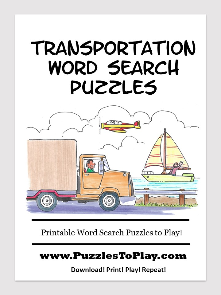 Transportation word search free download puzzle book