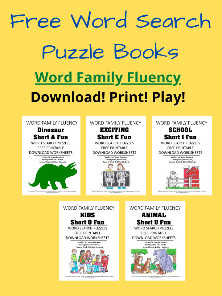 Word Family Fluency Free Download Word Search Puzzles