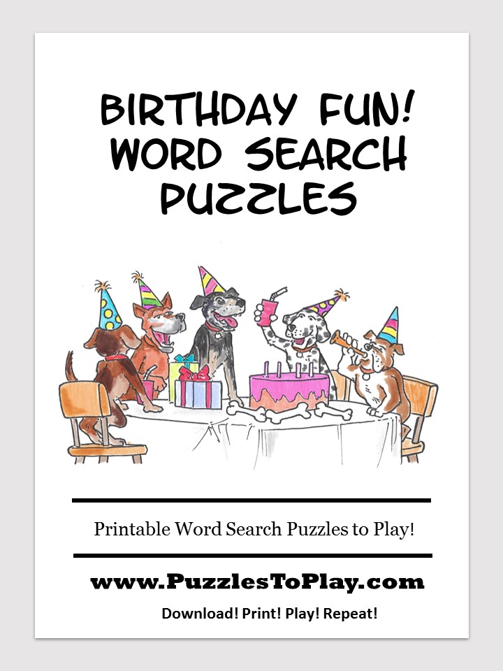 birthday fun word search free download puzzle book