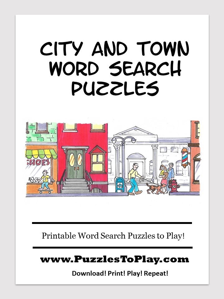 city town center word search free download puzzle book