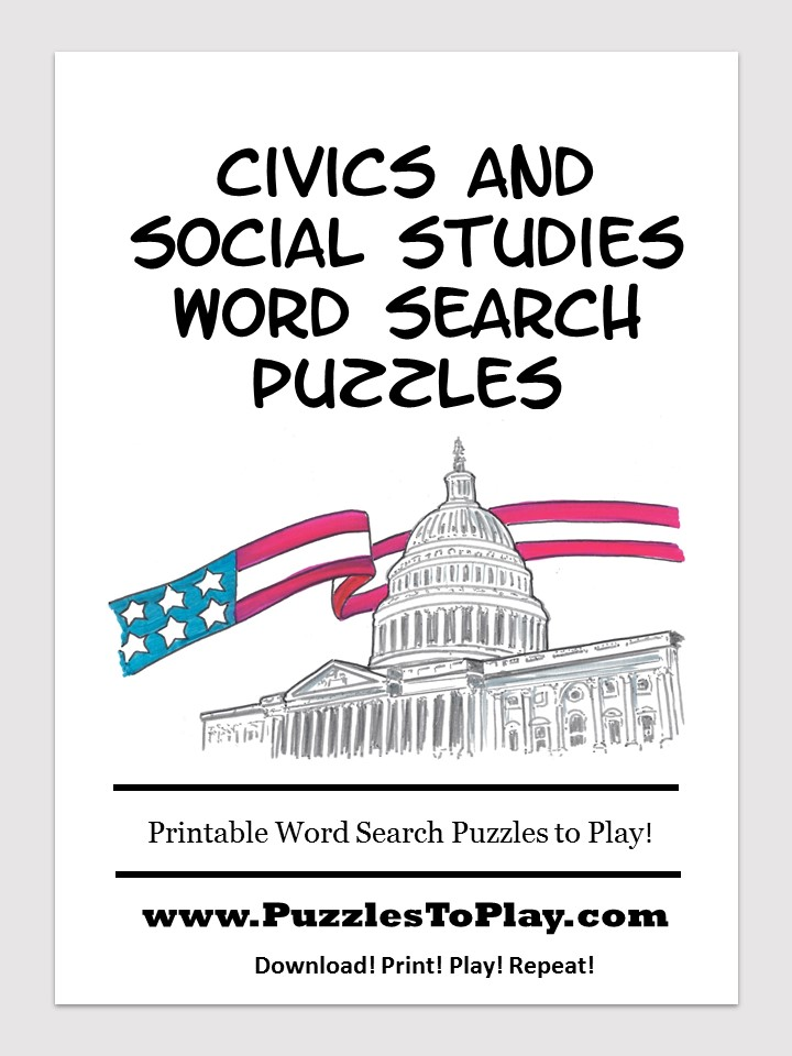 civics social studies word search free download puzzle book