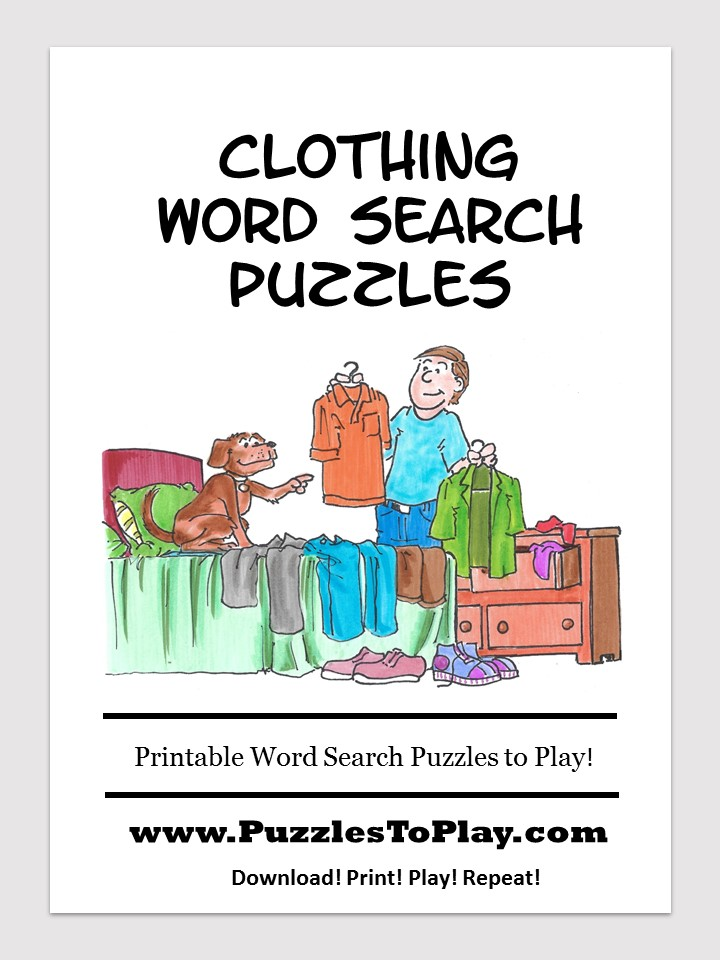 clothing word search puzzle book