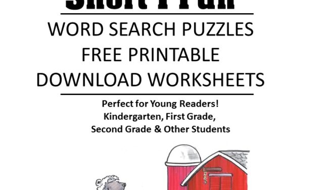 word family fluency Short I word search puzzles for kids