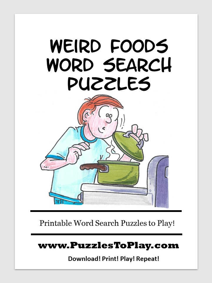 weird foods word search free download puzzle book