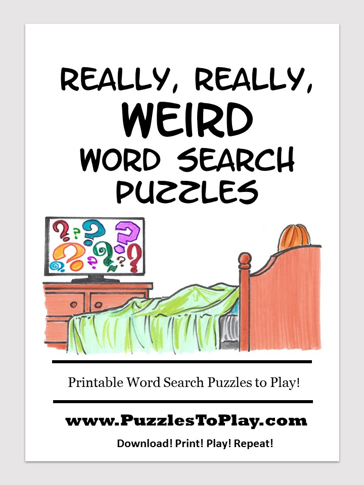 weird word search puzzle book
