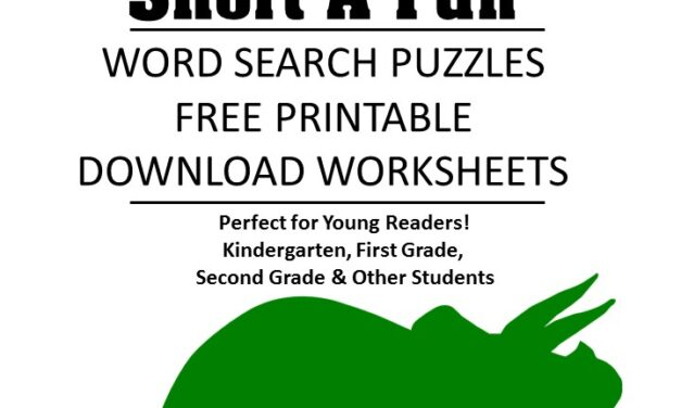 word family fluency Short a word search puzzles for kids