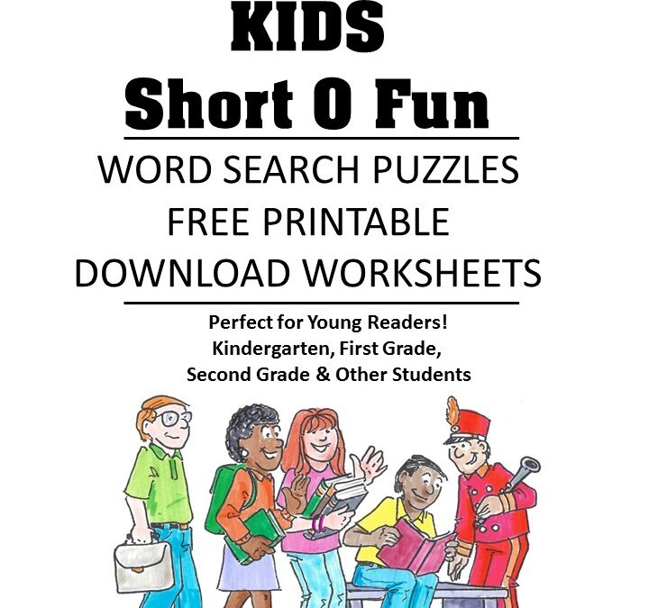 word family fluency Short o word search puzzles for kids