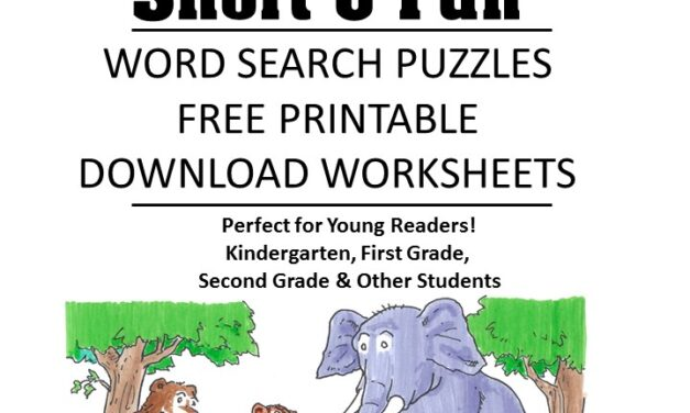 word family fluency Short u word search puzzles for kids