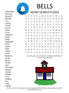 Bells Word Search Puzzle