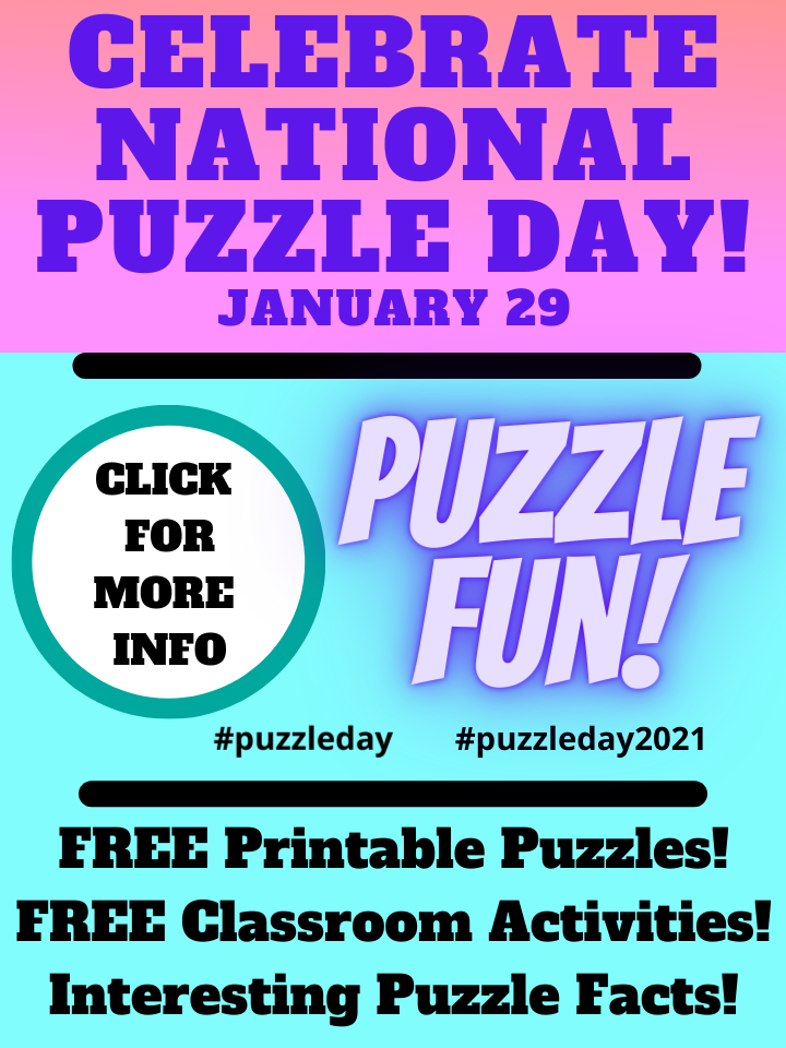 Celebrate national puzzle day! January 29