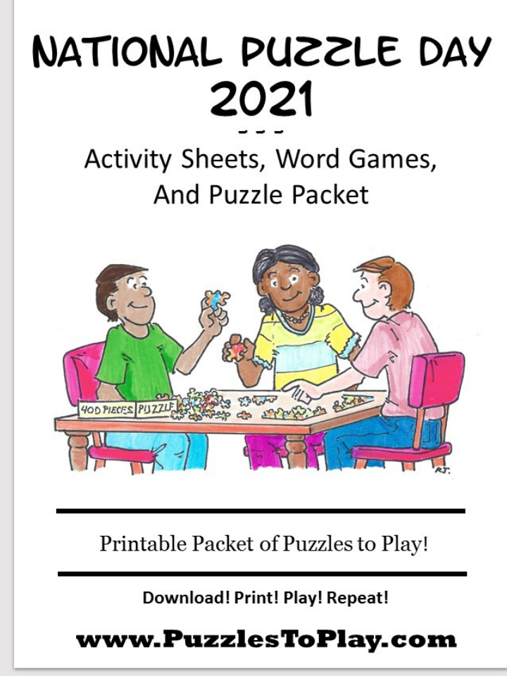 Free National puzzle day activity book