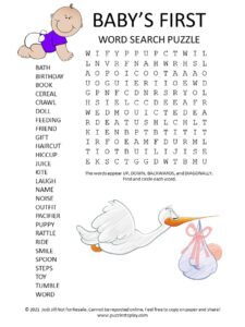 babys first word search puzzle