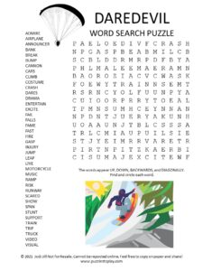 daredevil word search puzzle