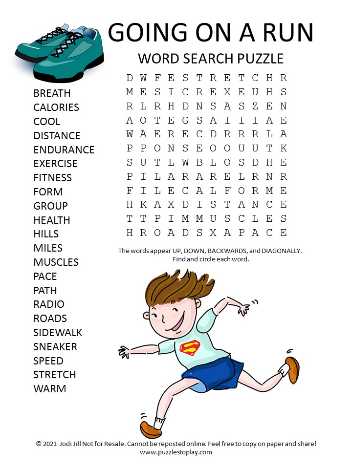 run word search puzzle