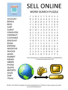 sell online word search puzzle