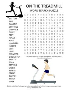 treadmill word search puzzle
