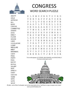 Congress Word Search Puzzle