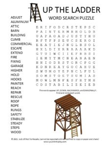 Ladder Word Search Puzzle