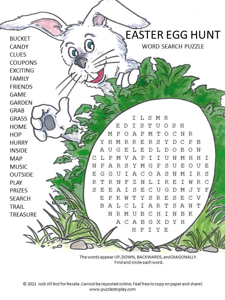Easter Egg Hunt Word Search Puzzle