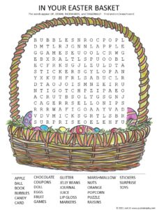 In Your Easter Basket Word Search Puzzle