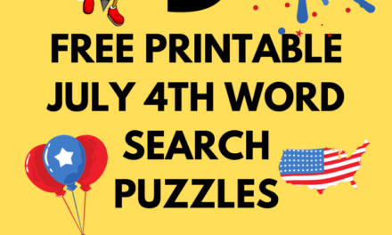 9 Free Printable July 4th Word Search Puzzles: Independence day