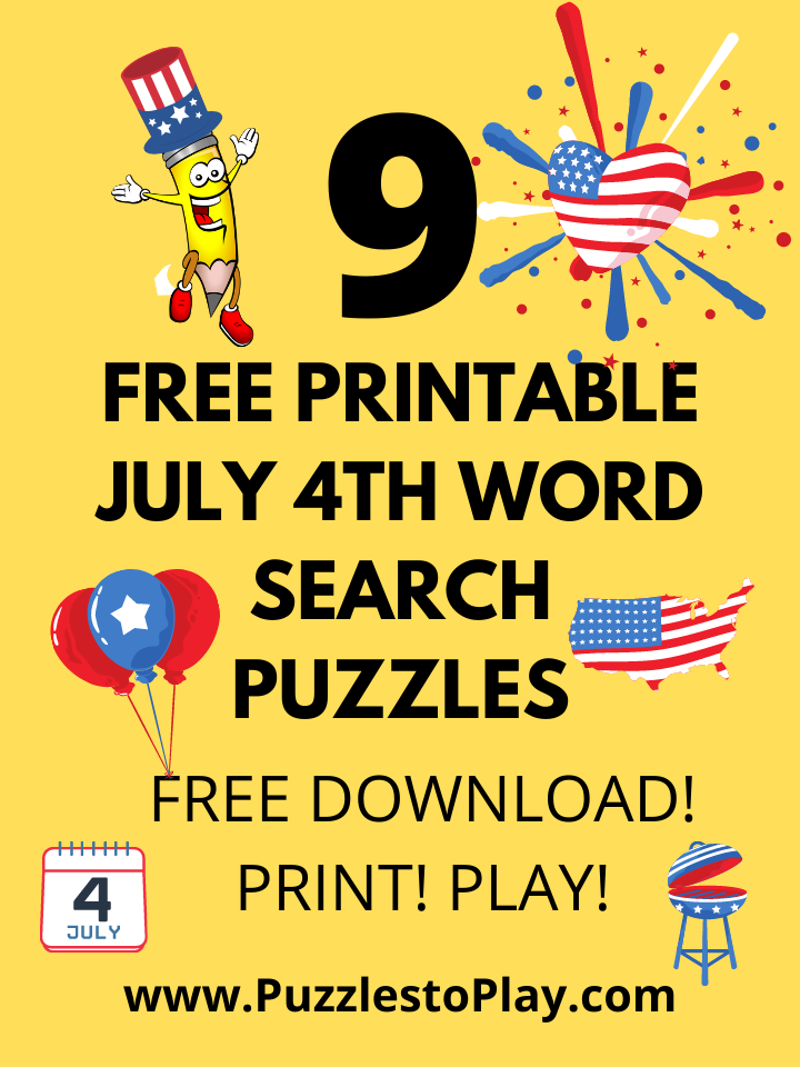9 Free Printable July 4th Puzzles