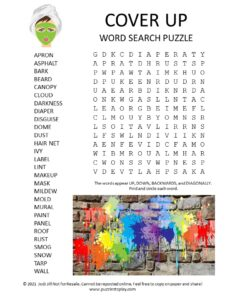 Cover Up Word Search Puzzle