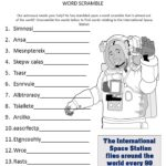 International Space Station Word Scramble for Kids