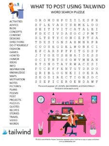 Tailwind word search puzzle