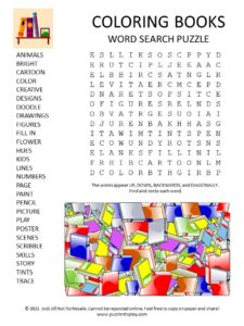 Coloring Books Word Search Puzzle
