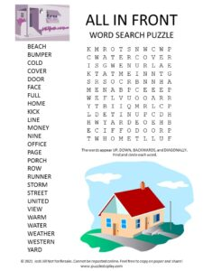 Front Word Search Puzzle