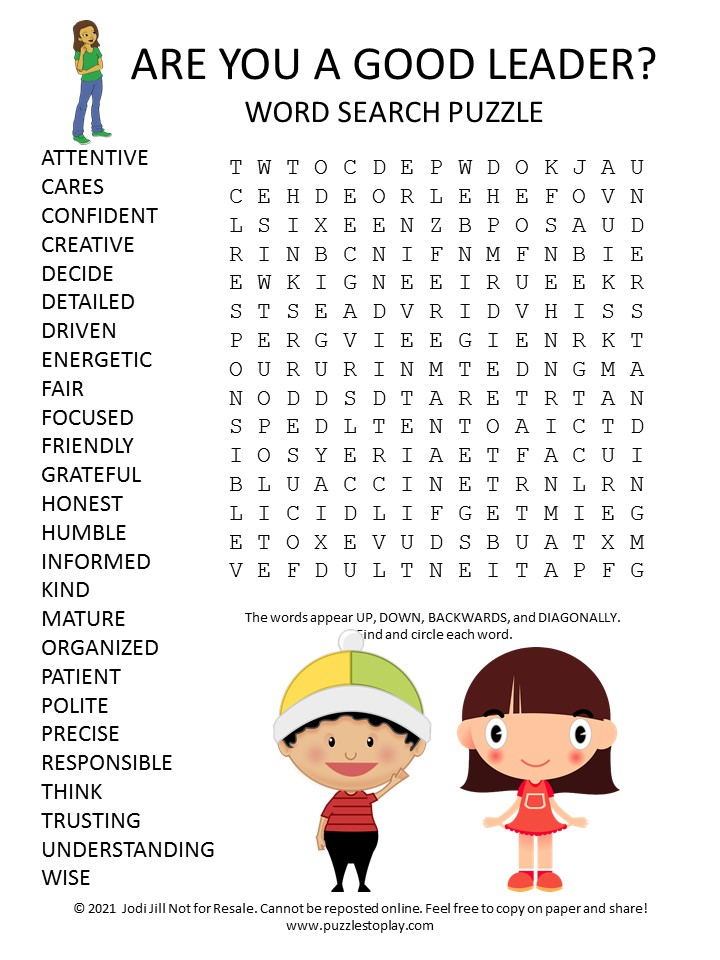 Good Leader Word Search Puzzle